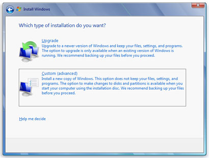 how to get a clean install from windows 7 upgrade