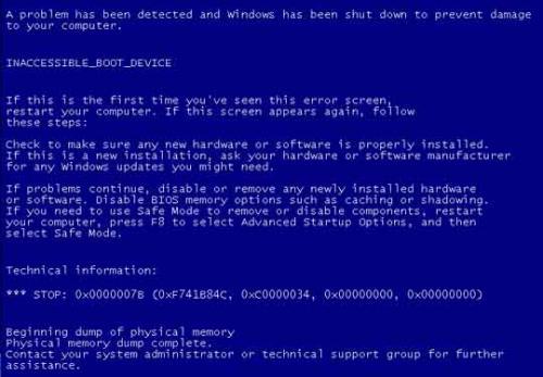 Inaccessible Boot Device Windows 10 Deutsch
