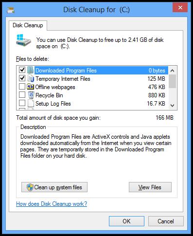 Enlever les fichiers temporaires windows 7