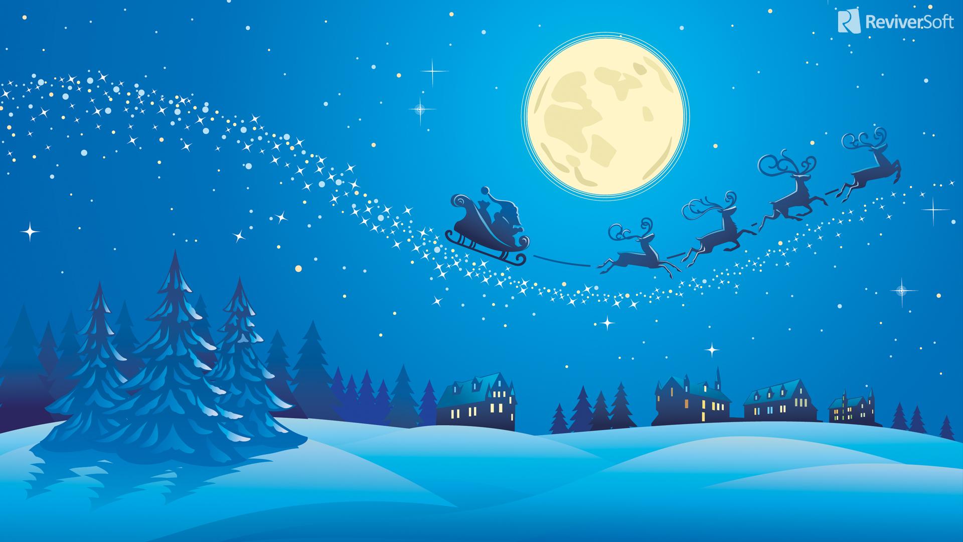 Fondo De Pantalla 3d De Navidad De Santa Vas De Luna Hd: ¿Dónde Puedo Encontrar Temas De Las Vacaciones Y Fondos