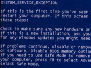 system service exception