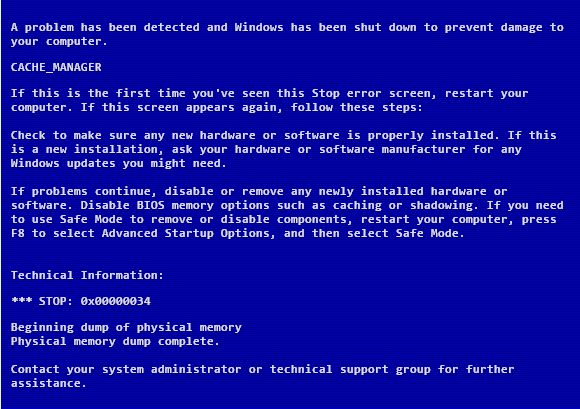What does the Clock Watchdog Timeout Blue Screen error mean?