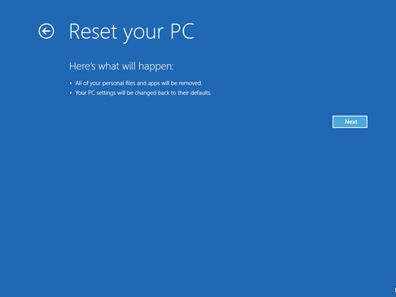 What is Windows Refresh and Reset