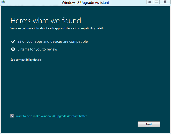 Upgrading from Windows 7 to Windows 8