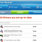 Scan Results from Driver Reviver