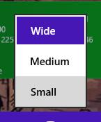 How do I resize the tiles in Windows 8.1?
