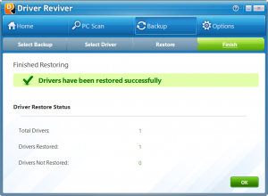 Drivers Restored Successfully