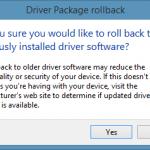 Rollback Warning