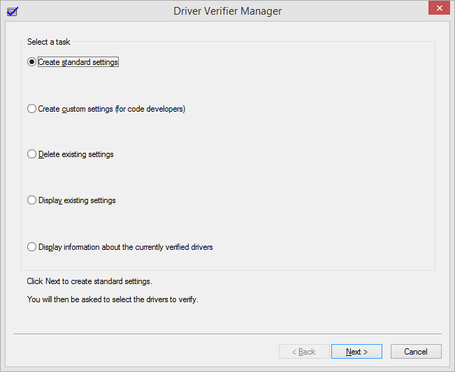 Using Driver Verifier to fix a Blue Screen of Death