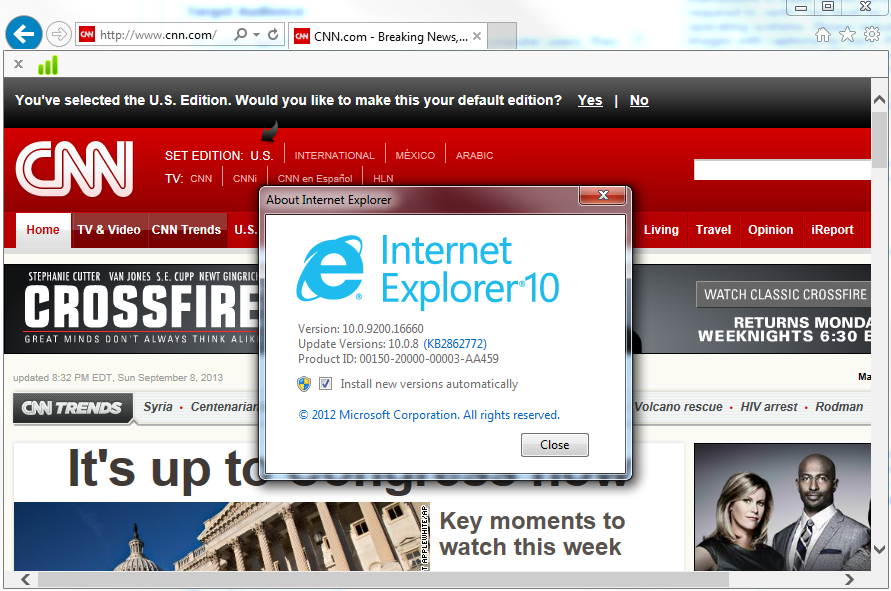 Internet Explorer has stopped working. How do I fix it?