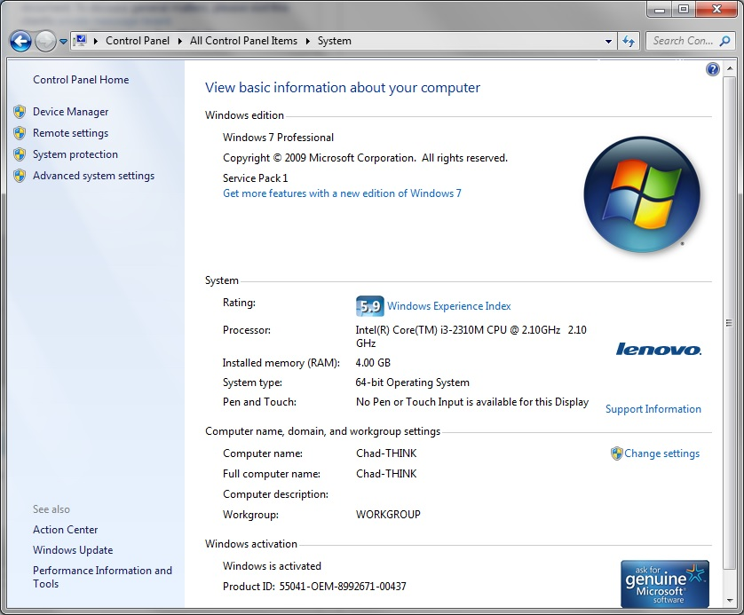 Fixing Windows 7 Service Pack 1 on repair list