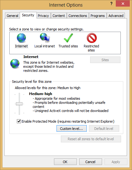 Internet Explorer is blocking me from installing applications. How do I fix it?