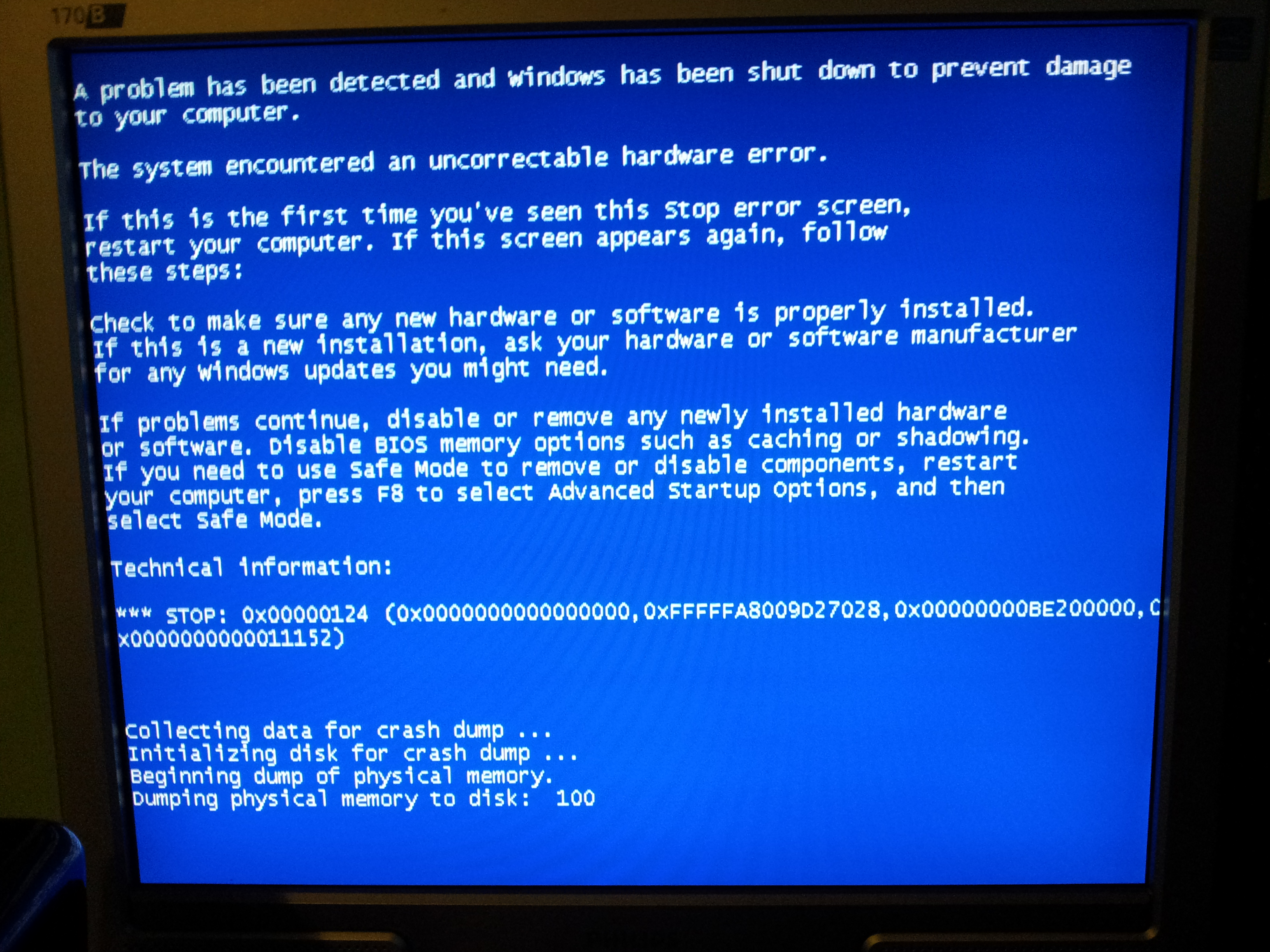 A guide to the WHEA_UNCORRECTABLE_ERROR Blue Screen of Death
