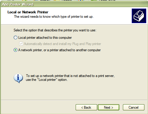Networking between Windows XP and Windows 7