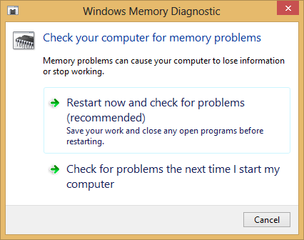 Setting Up a Memory Test in Windows