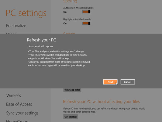 Repairing Windows 8 Apps that Don't Work