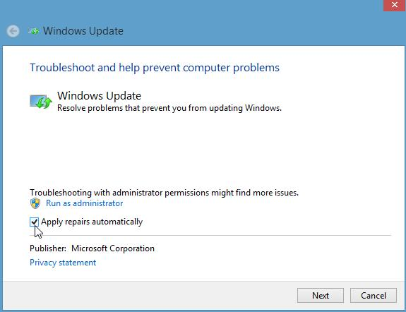 Fixing Windows Update Errors