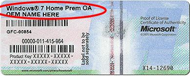 OS License Code