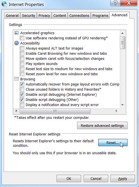 comment réparer internet explorer a cessé de fonctionner