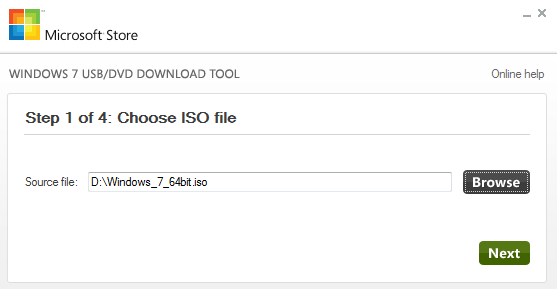 Create USB - Step 1