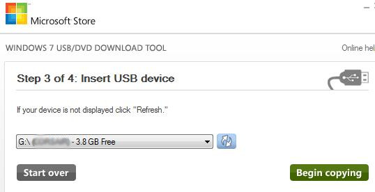 Create USB - Step 3