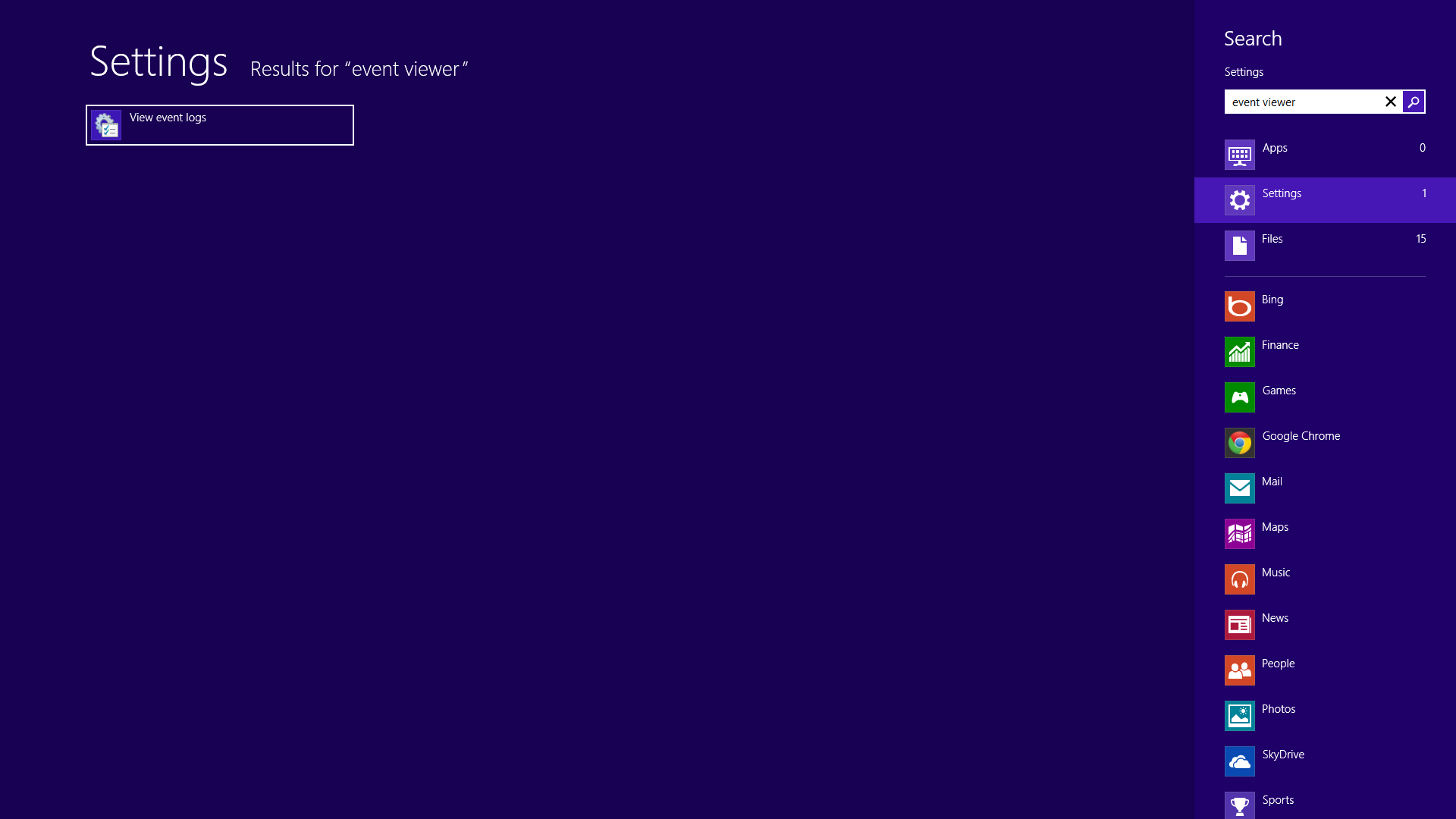 Event Viewer Windows 8
