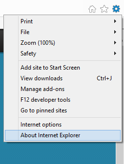 Gear Icon in IE