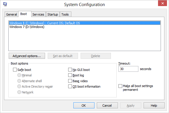 Windows 8 System Configuration