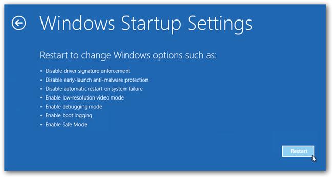Windows 8 reboot in Safe Mode