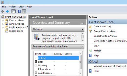 Event Viewer Event Logging