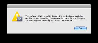Windows is telling me the software used to decode media is not available. Help!