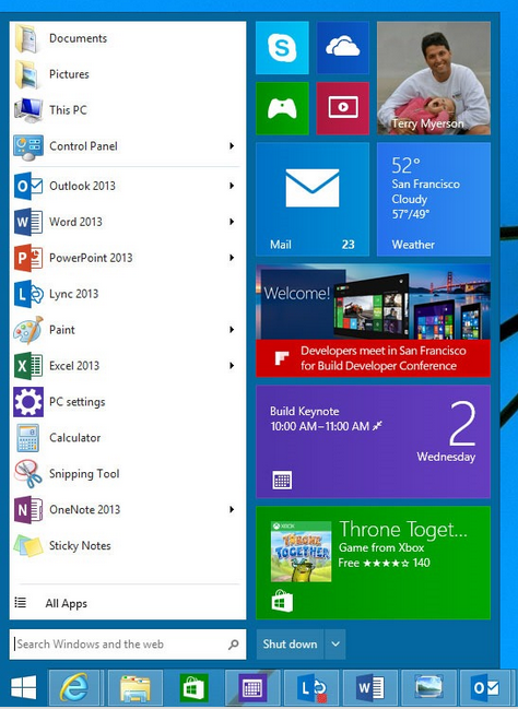 Windows 8 Startmenü