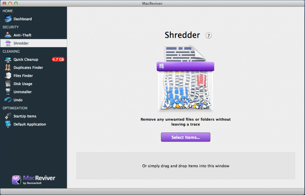 MacReviver Shredder 1