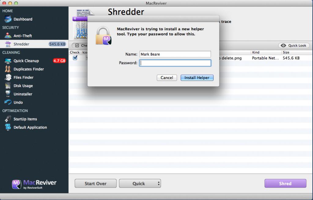 MacReviver Shredder 5