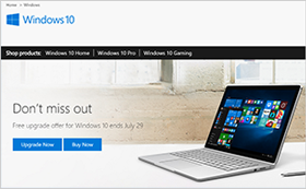 windows 10 site web