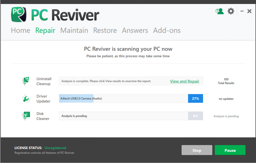 Usar PC Reviver