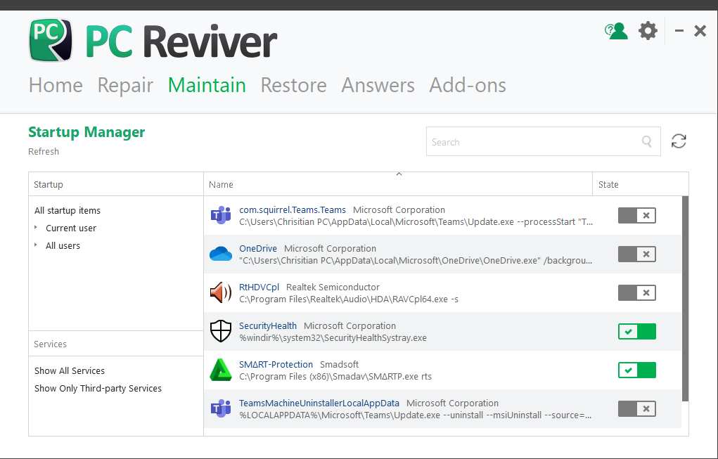 Use PC Reviver to speed up load time