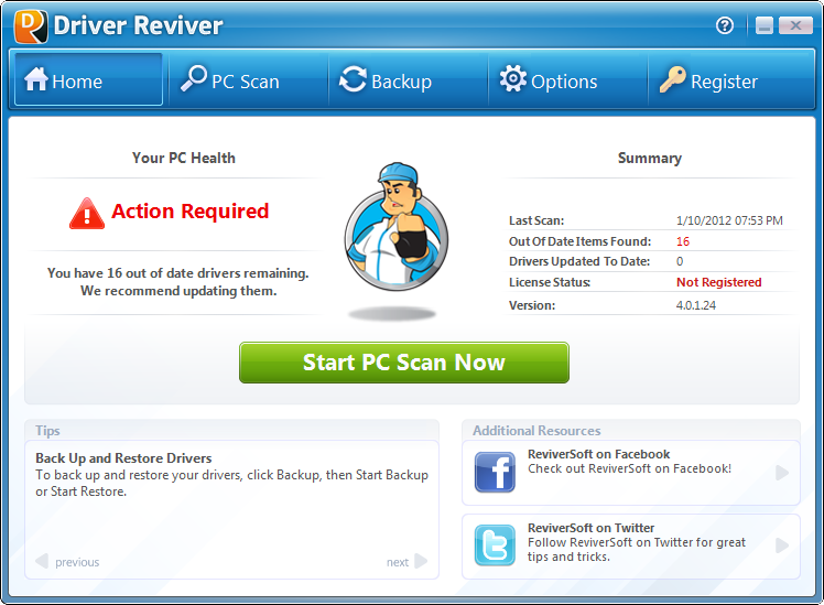 Click to view Driver Reviver screenshots