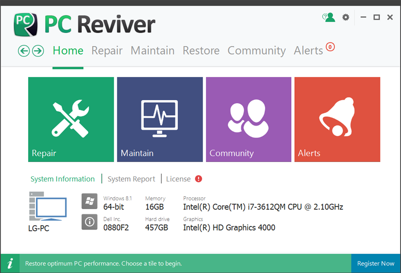 Click to view PC Reviver screenshots