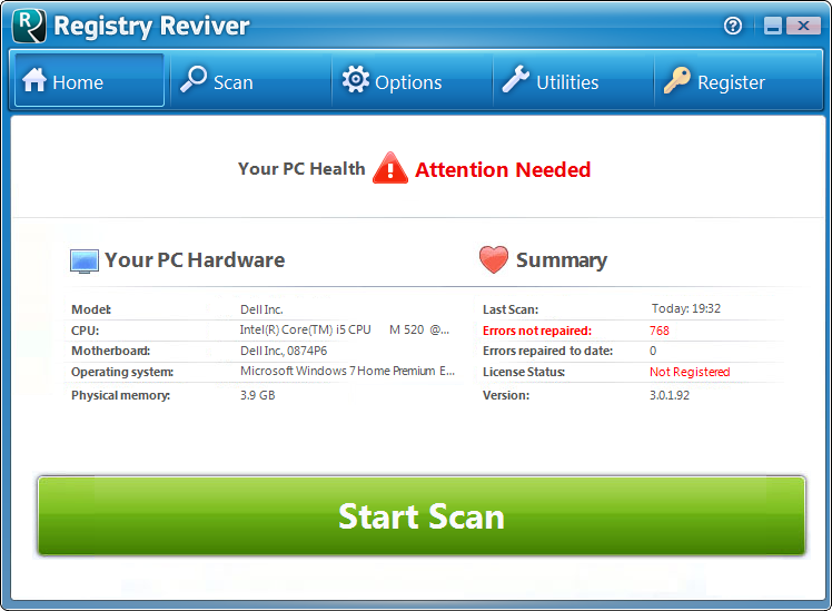 Registry Reviver Screen shot