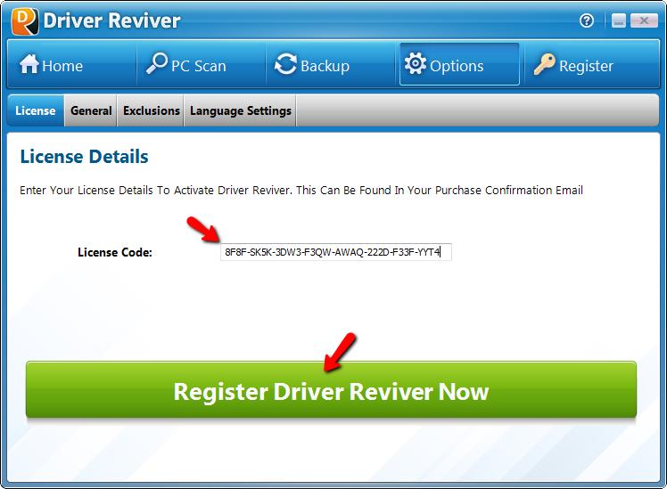 Ключ для driver reviver скачать