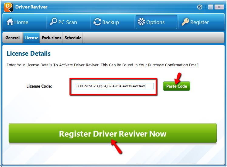 Ключ для Driver Reviver