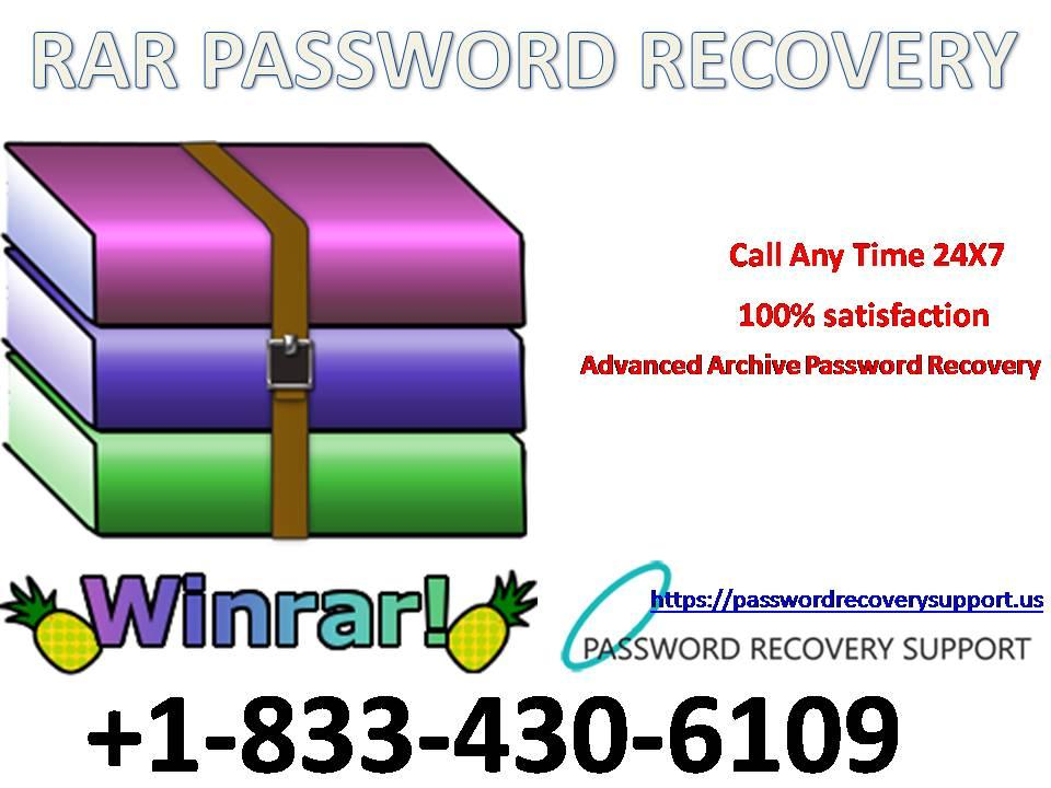 1-833-430-6109 RAR PASSWORD RECOVERY Phone Number